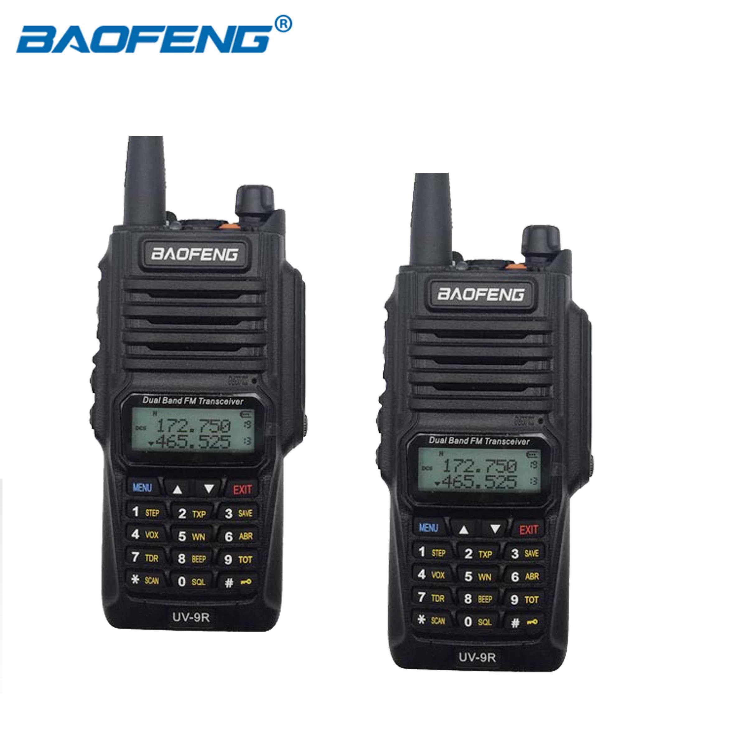 Baofeng UV 9R IP67 Waterproof Two Way Radio Dual Band UHF VHF Walkie Talkie 8W 128CH