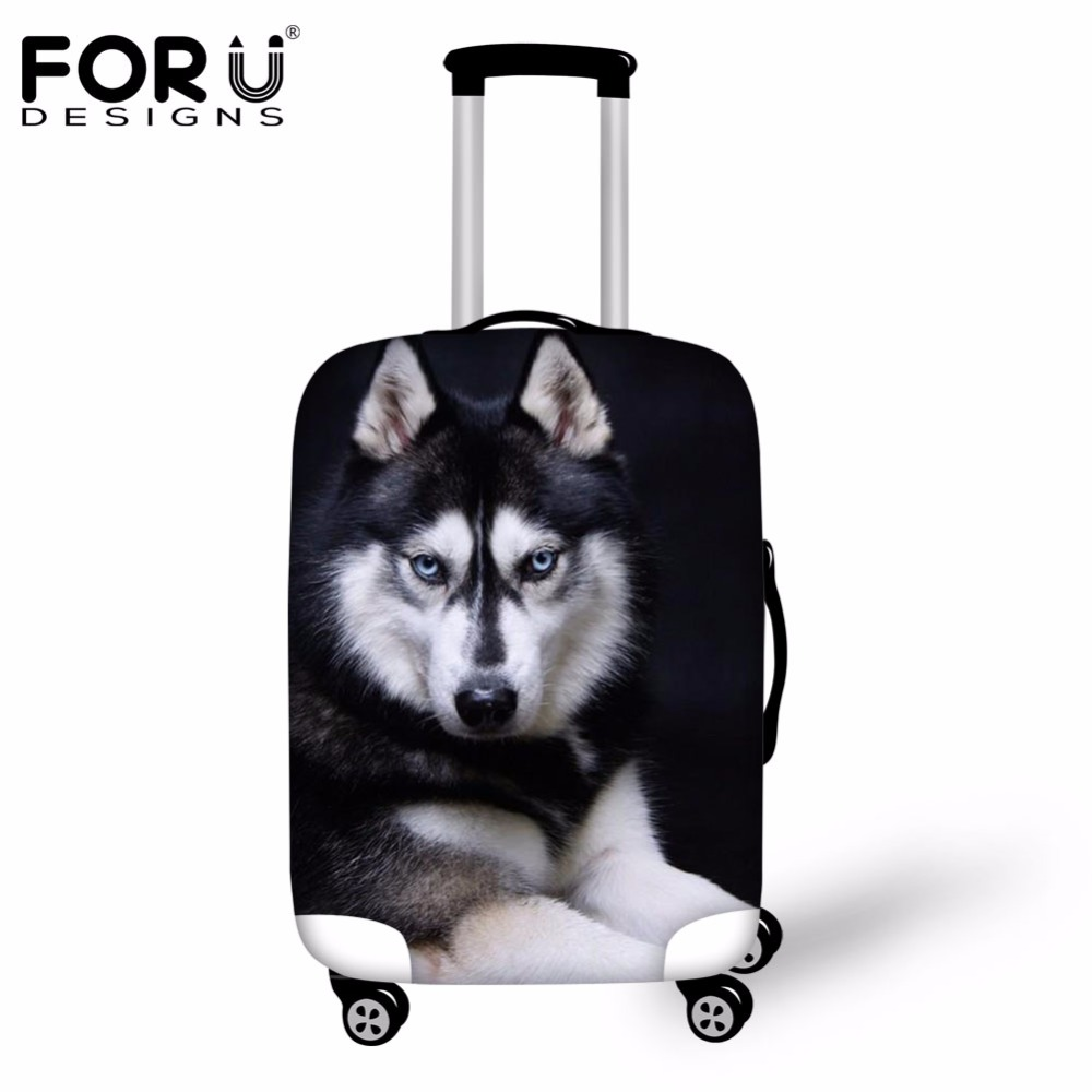 FORUDESIGNS Brand Travel Luggage Suitcase Protective Covers 3D Dog Elastic Dust Rain Cover For 18-30 Inch Trolley Case Waterpoof