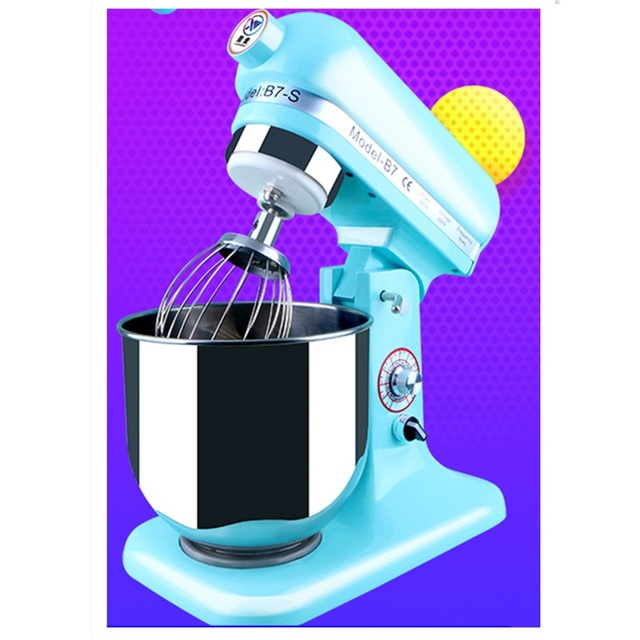 220V Commercial Electric Dough Mixer 7L Multifunctional Electric Food Mixer 2 Color Available Automatic Cream Beater Machine
