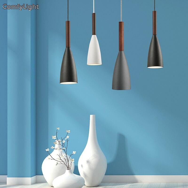 где купить Modern Restaurant Pendant Light Minimalist LED Hand Lamp Dining room Pendant Lamp Indoor Decoration Home Lighting Lamparas E27 по лучшей цене