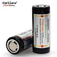 VariCore 2 PZ 26650 3.7 V Batteria Al Litio 26650 4A Alta corrente di scarica di Protezione Bordo Batteria per Evidenziare Torcia