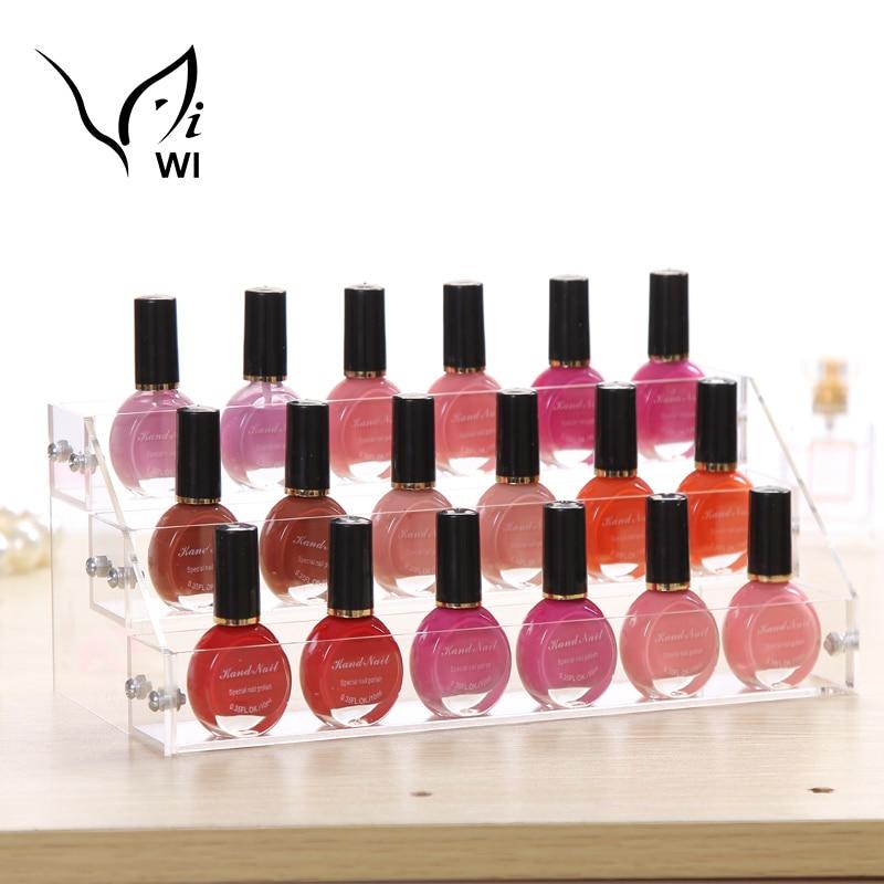 3 Layers Acrylic Nail Polish Display Stand Shelf Rack Makeup Organizer Boxes Cosmetics Storage Box Cosmetic Holder Organizer