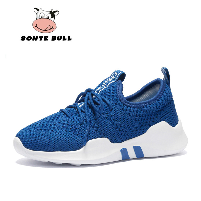 Autumn Boys Girls Running Shoes Kids Breathable Mesh Children Sneakers Casual Fashion Lace-up Light Walking Boy Kid Sport Shoes