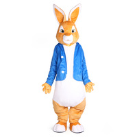 Peter Rabbit Mascot Costumes Christmas Unisex Mascots Suit Fancy Dress for Adult full outfit Hallween Purim party