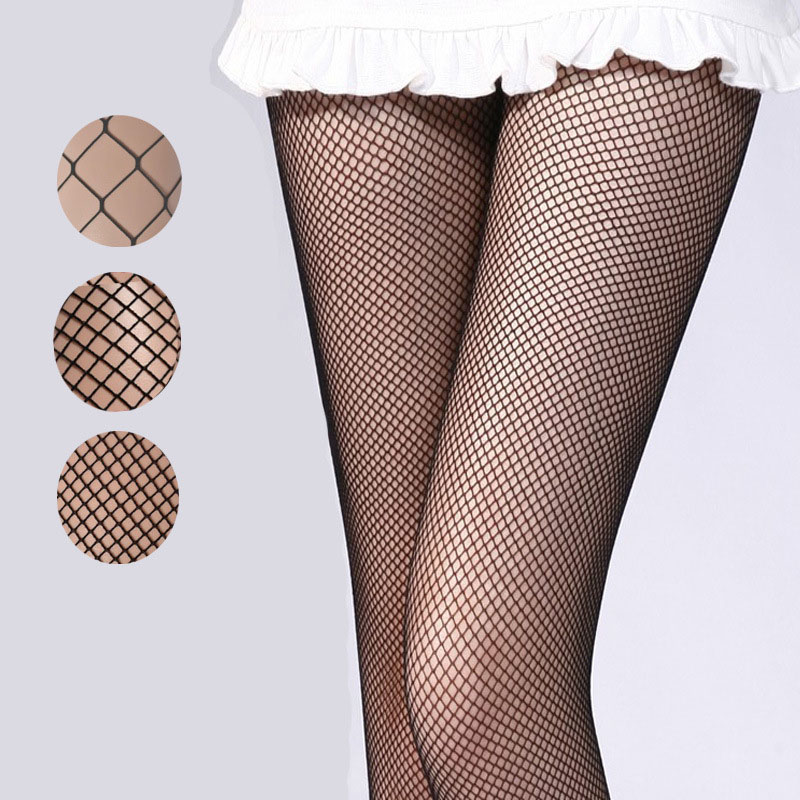 Women's Tights Sexy Black Fishnet Pantyhose Female Summer Ultra Slim Hosiery Tattoo Stockings Ladies Patterned Tights women