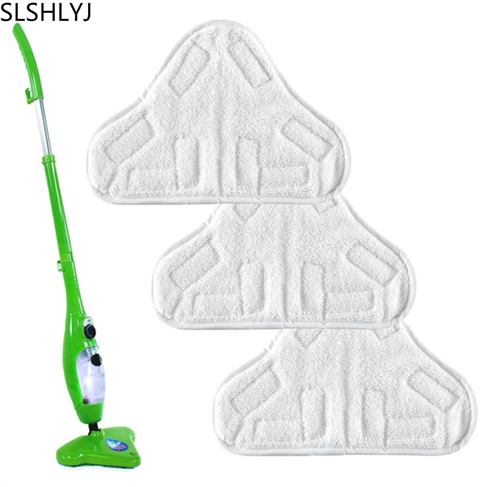 SLSHLYJ 2PCS New Reusable Cloth Washable Microfiber Replacement Pads Fit H2O X5 Steam Mop Home Cleaning Tools 2017 Hot Sale(China)