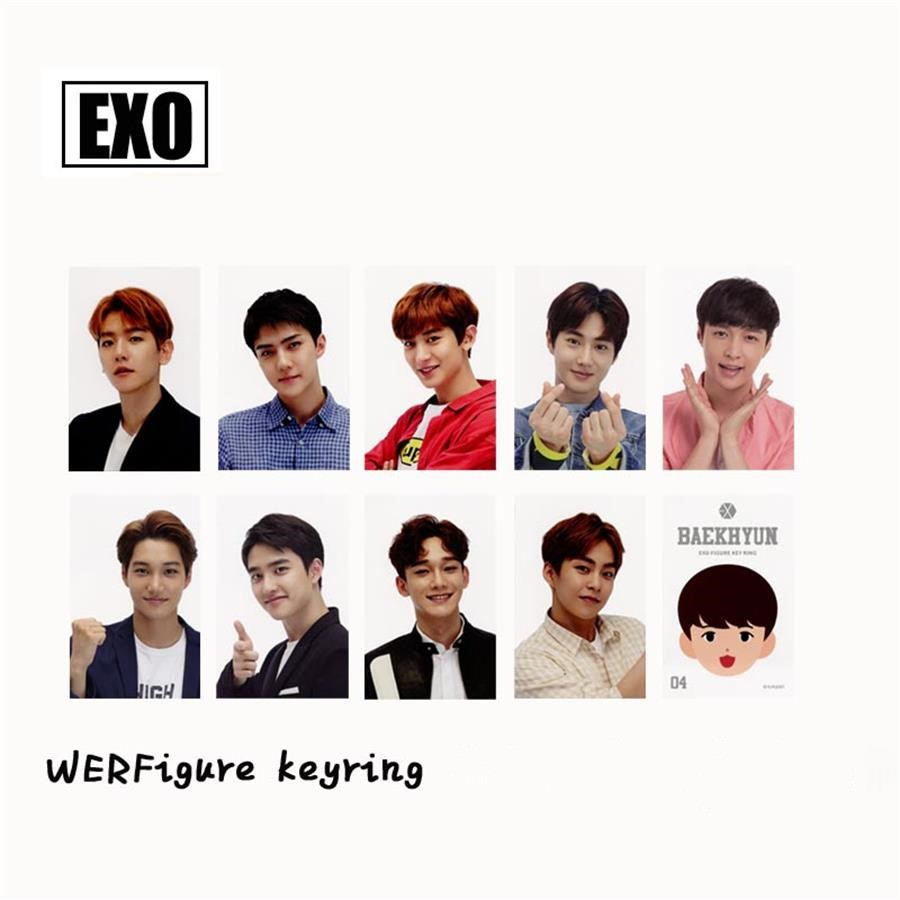 Imported From Abroad Kpop Exo Figure Paper Photo Cards Kai Sehun Self Made Collective Photocard Poster 9pcs/set Beads & Jewelry Making