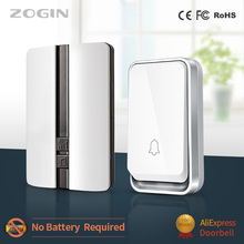 ZOGIN Door Bell Home Waterproof Smart Wireless Doorbell No Batte Cordless Ring Dong Chime House Call timbre casa calling button