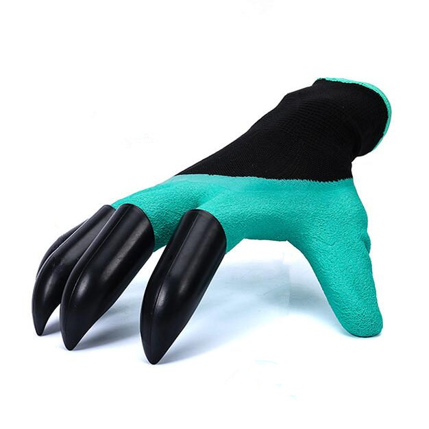 Blingbling 2Pairs Garden Gloves with 4 ABS Built In Plastic Claws Gardening work Gloves for Digging Planting glove High quality glove