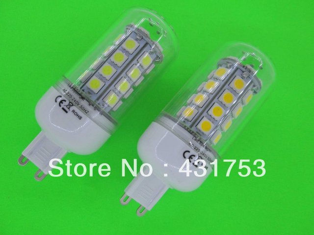 10pcs G9 7W 36 SMD 5050 LED Corn Light Bulb Lamp with Cover White/Warm white G9 More than 5LOT is wholesale Free Delivery