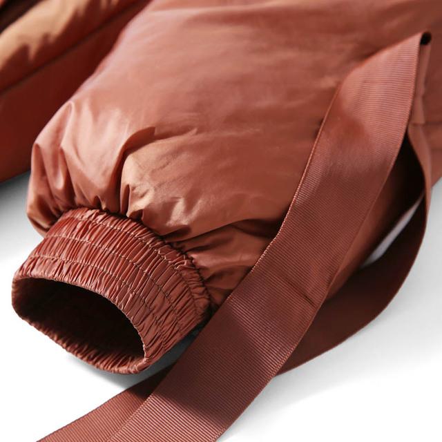 Amii minimalistyczne kapturem dół kurtki kobiety zima 2018 przyczynowy solidny patchwork 90% biała kaczka dół światło kobiece długie Parkas Coat