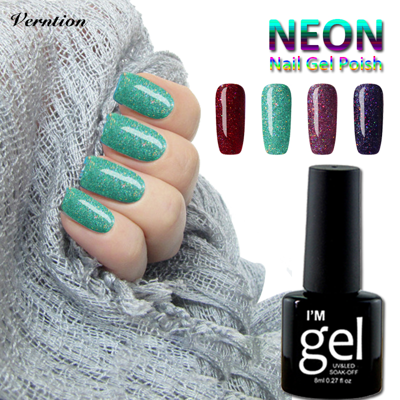 Verntion Semi Permanent Acrylic Gel Nail Extension Colorful Poly Gel ...