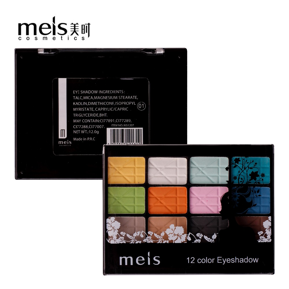 MEIS Brand Makeup Cosmetics Professional Makeup 12 Colors Eye Shadow Eyeshadow Palette Matte Eyeshadow Eye Shadow Palette MS1207