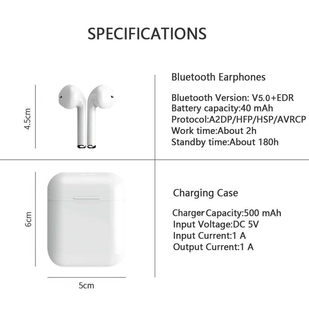 Słuchawki bezprzewodowe słuchawki Bluetooth 5.0X8 F10S F18 TWS mini słuchawki sportowe Bass wodoodporny Ipx5 z mikrofonem zestaw słuchawkowy tak smartfon