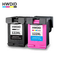 HWDID 122XL Refilled Ink Cartridge replacement for hp 122 XL for Deskje 1000 1050 2000 2050 3000 3050A 3052A 3054 1010 1510 2540