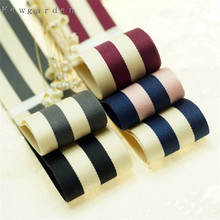 kewgarden Handmade Tape 10mm 3/8 25mm 1 38mm 1-1/2 Stripe Satin ribbons Ribbon DIY Bow Packing Accessories 10 Yards