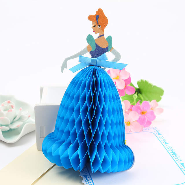 Online Shop 3d Pop Up Cards Birthday Party Decorations Princess