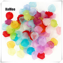 Acrylic Flower Petal Beads Mixed 15mm Candy Colors 1000pcs/lot Plastic for Jewelry Making Decoration DIY Accessory