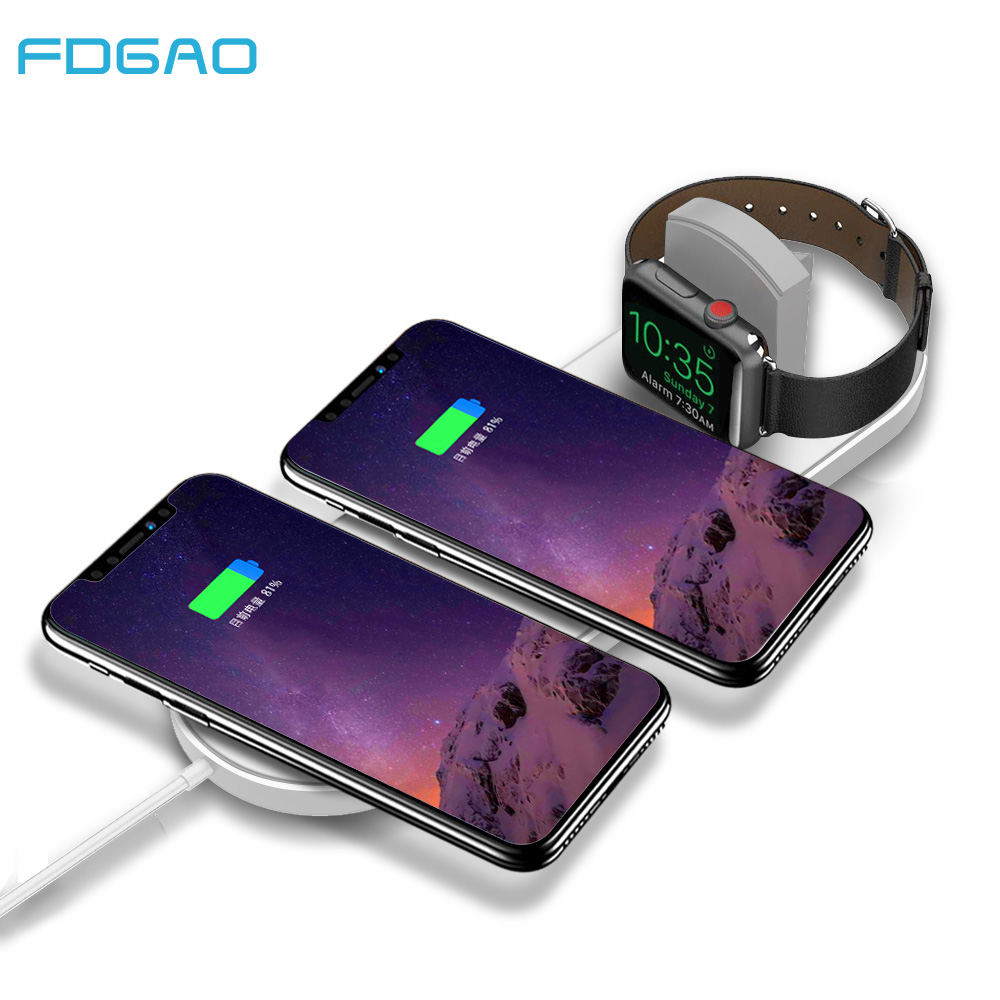 FDGAO 10W Qi Wireless Charger Pad for iPhone XS Max XR X 8 Plus Apple Watch Charge Dock Fast Charging For Samsung S9 S8 Note 8 9FDGAO 10W Qi Wireless Charger Pad for iPhone XS Max XR X 8 Plus Apple Watch Charge Dock Fast Charging For Samsung S9 S8 Note 8 9