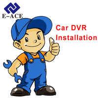 E-ACE coche Dvr espejo Auto Cámara instalación procedimiento y Diagrama de alambre