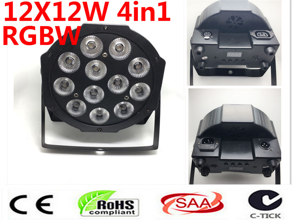 CREE LED Par 12x12W RGBW 4IN1 LED Luxury DMX 4/8 Channels Led Flat Par LightsCREE LED Par 12x12W RGBW 4IN1 LED Luxury DMX 4/8 Channels Led Flat Par Lights