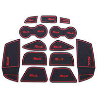 13Pcs Lot Car Interior Upholstery For Ford Focus Rubber Mat Car Accessories Non-Slip Mat Auto Accessories Interior