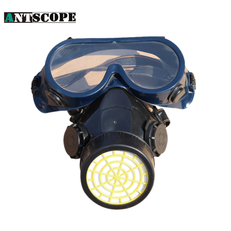 Protective Mask With A filter Chemical Respirator Anti-Dust Mask + Eye Goggles Working Mask Spray Defensa Smoke Face Masks new safurance protection filter dual gas mask chemical gas anti dust paint respirator face mask with goggles workplace safety