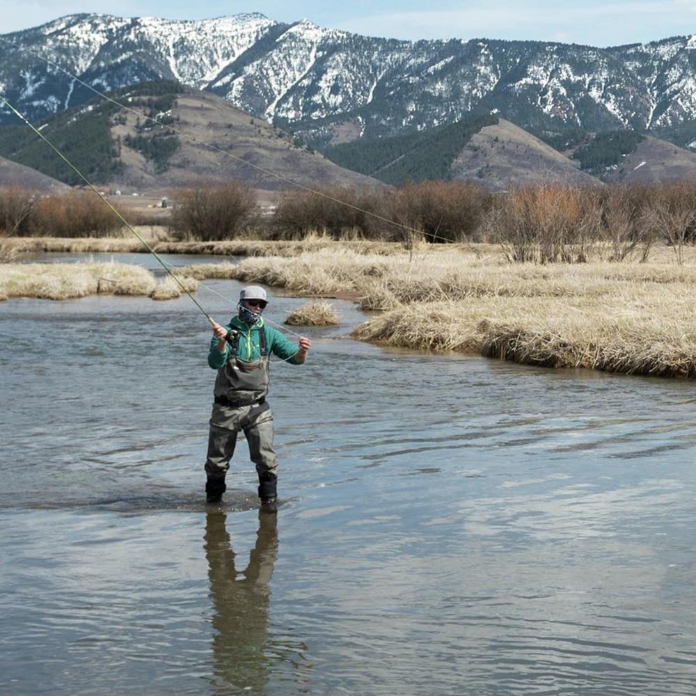 Poitrine de pêche homme cuissardes respirant bas pied Wader léger Convertible chasse pataugeoire pantalon kit pour pêche à la mouche - 6