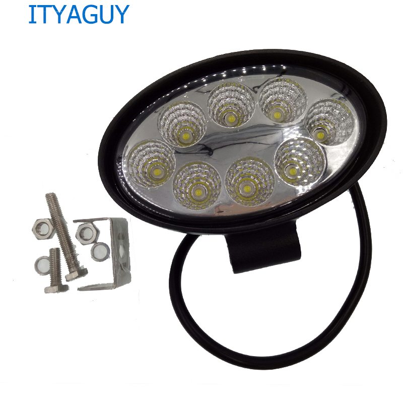 1pcs 24W Oval 14cm Spot LED Working Light for SUV 4WD Offroad ATV Car Truck Tractor 8 LEDs Cup Reflection Headlight Fog DRL зимняя шина nokian hakkapeliitta 8 suv 265 50 r20 111t