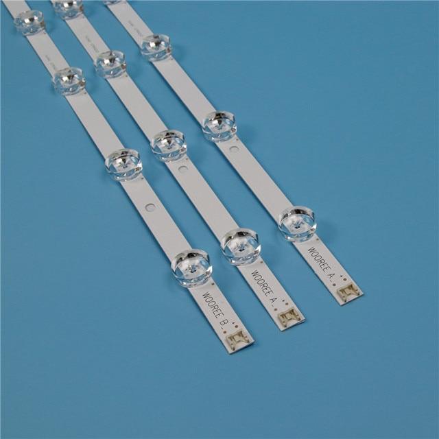 "TV Backlight Strip For LG WOOREE A B 32LF HD TV LED Strips LGIT A B Strip INNOTEK DRT 3.0 32"" DRT3.0 REV0.9 Kit Bars Lamps Bands"