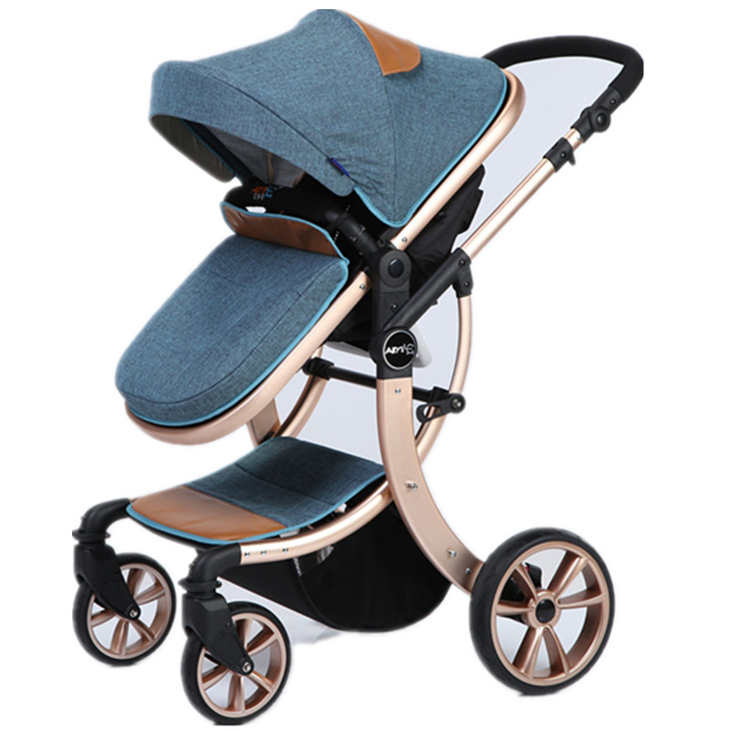 The baby cart can sit on the floor and lie flat on the top of the landscape