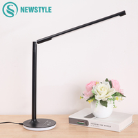 3 Light Color Led Desk lamp 9W Table Lamp Eye Protection 360 Degree Rotation Flexible Reading Light With USB Cable