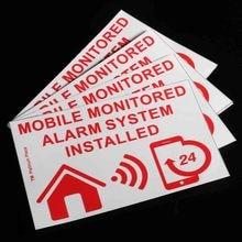 Новый safurance 6 xmobile мониторинга сигнализации Системы установлен предупреждающий знак внешний Стикеры 130×87 мм охранных Предметы безопасности
