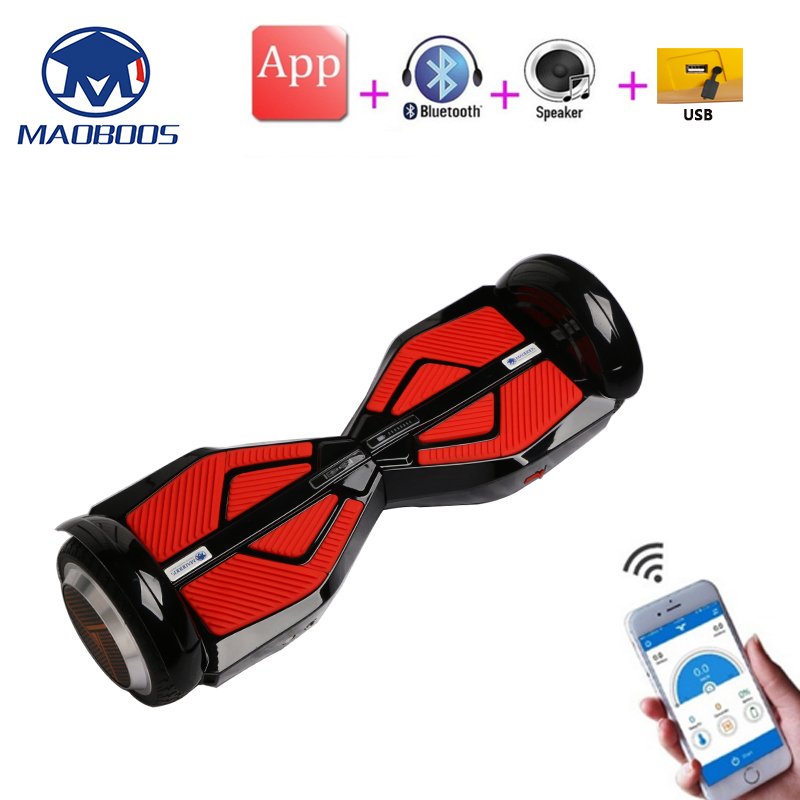 6.5Inch Self Balancing Electric Hoverboard Skateboard Battery Scooter Electrico GyroScope Two Wheel Electric Hoverboards APP USB
