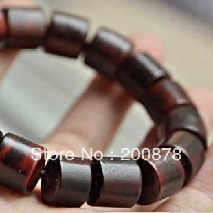 Beads & Jewelry Making Discreet Bro631 Indian Big Leaf Red Sandalwood Prayer Hand Mala 10/12/15mm Natural Wooden Drum Beads Man Wrist Bracelets