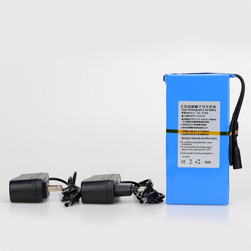 Batterie Rechargeable portative de grande capacité de MasterFire DC 12 V 12000 MAH Batteries au Lithium-ion pour le DC-1212A d'appareil-photo de télévision en circuit fermé