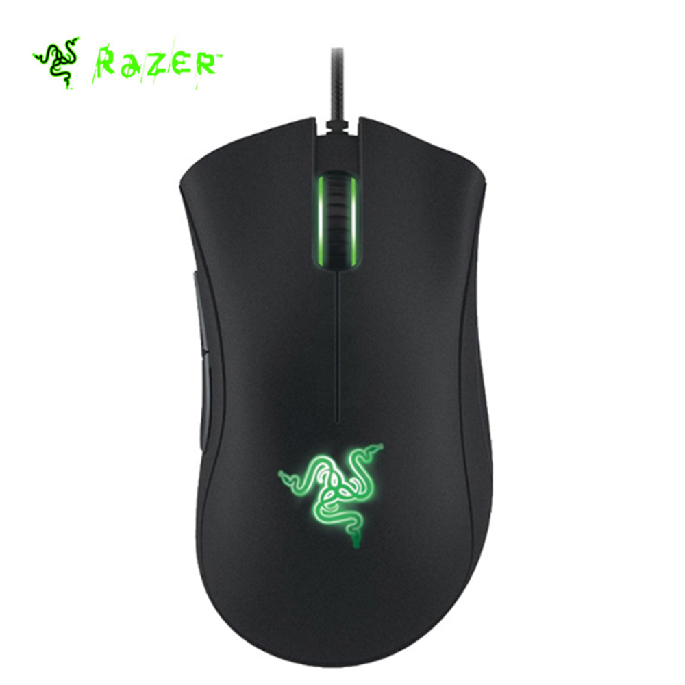 Razer Two Programmable Thumb Buttons Mouse DeathAdder Expert Professional Wired Gaming Mouse Optical e-Sports Ergonomic 6400 DPI