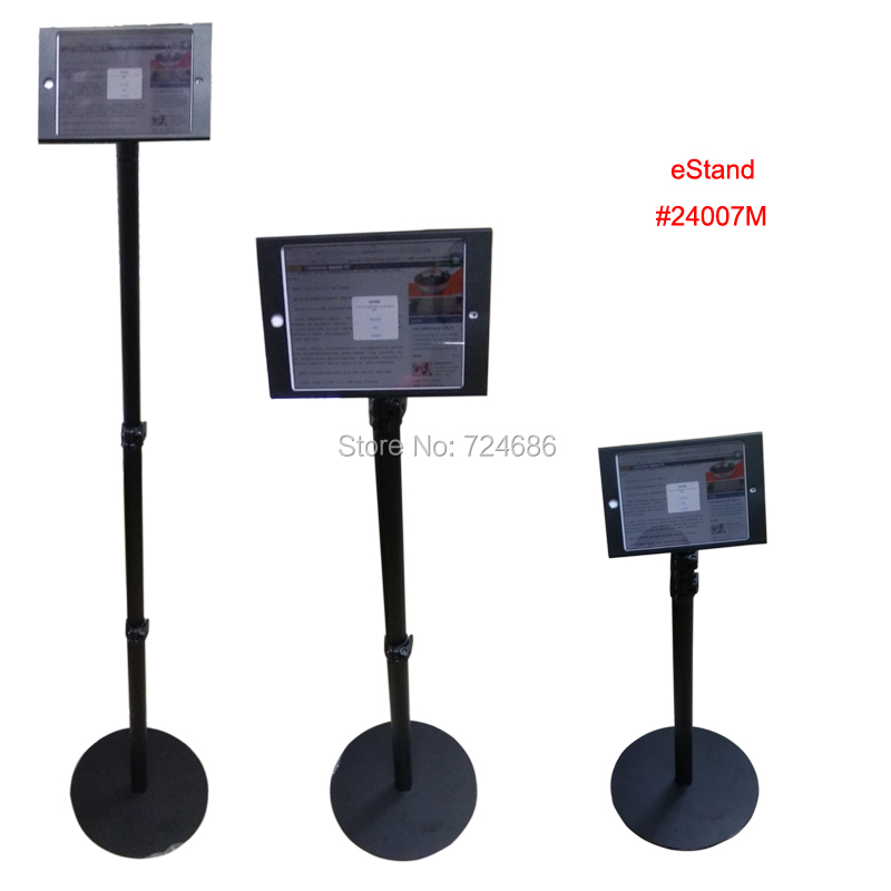 for mini ipad floor stand with lock enclosure secure kiosk height adjustable display on retail store or bank hotel shop - Ipad Floor Stand