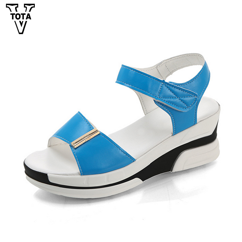 VTOTA Summer Wedges Shoes Woman Comfortable Zapatos Mujer Casual Women Shoes Platform Sandals Women High Heels With Sandalia FC vtota summer shoes woman platform sandals women soft leather casual peep toe gladiator wedges women shoes zapatos mujer a89