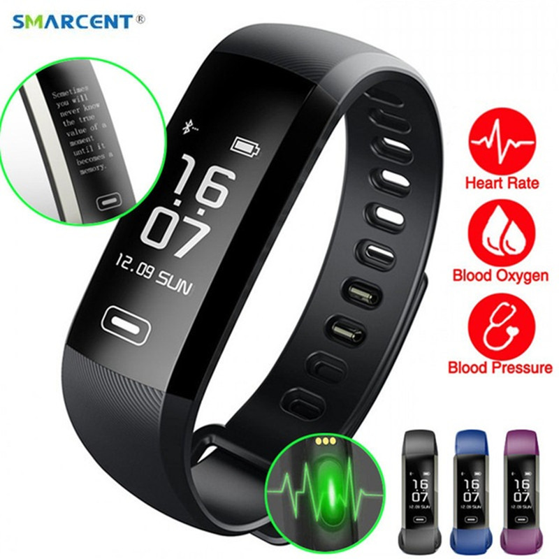 SMARCENT R5MAX M2 Pro Smart Fitness Bracelet Watch Smartband Intelligent Display Blood Pressure Blood Oxygen Heart