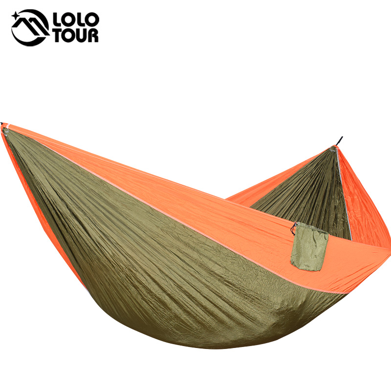 Ultra-Large 210T Hammock Hammock Double 2 Person Travel Camping - Mobiliário - Foto 2