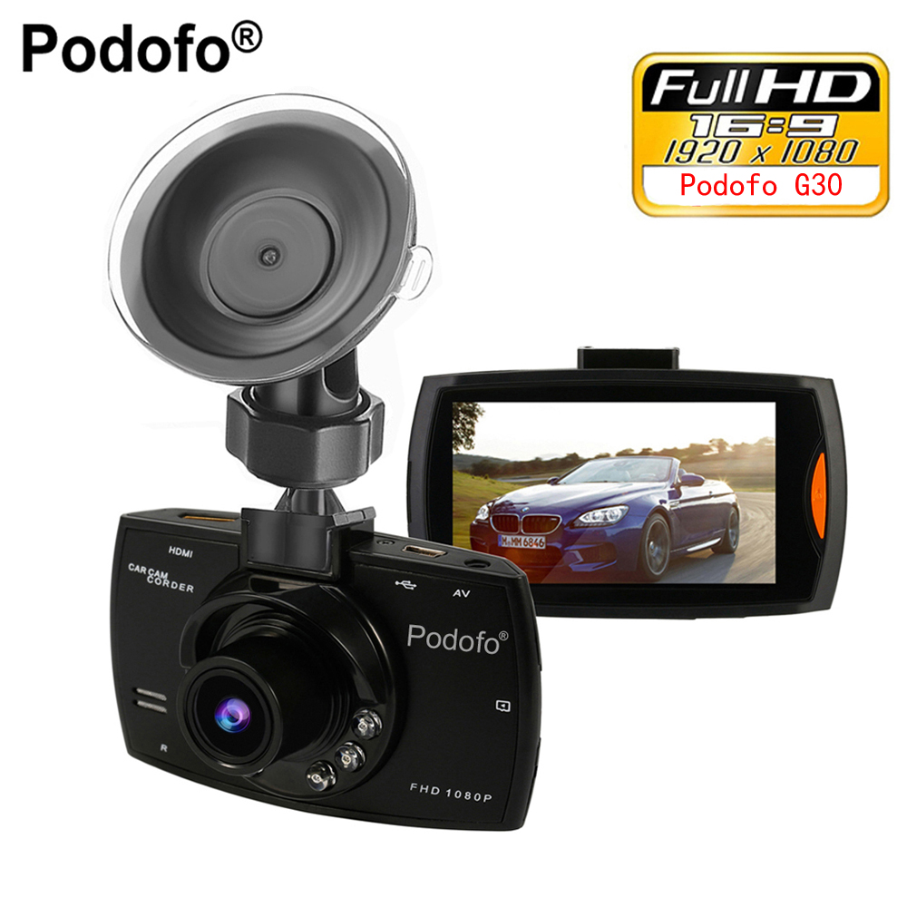 Podofo Mini Car DVR G30 Full HD 1080P Camera With Motion Detection Night Vision G-Sensor Dashcam Registrar Dash Cams DVRs автомобильный видеорегистратор k6000 car camera car dvr 1080p full hd k6000 25fps g 140