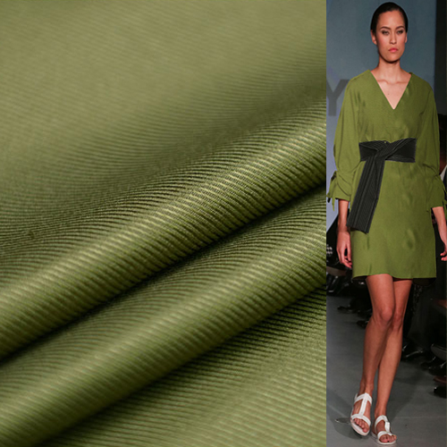 Deep Green Silk Blending Wool Fabric Twill Silk And Wool Blended Fabric 30momme 114cm Width By Yard,SFF041