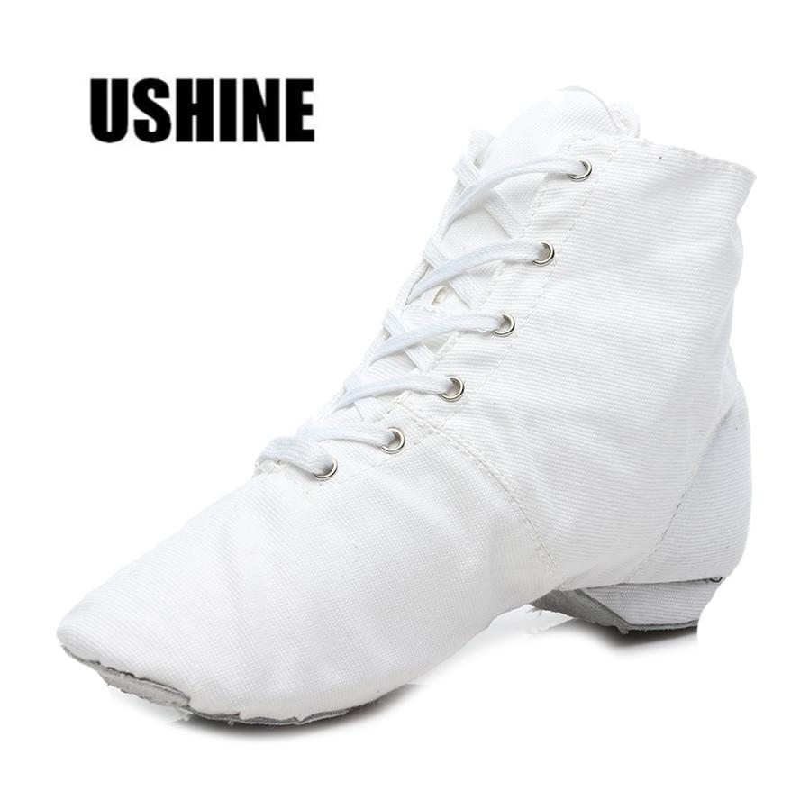 Bijela crna crvena visoke kvalitete platna svjetlo težina žena jazz dacing cipele za žene