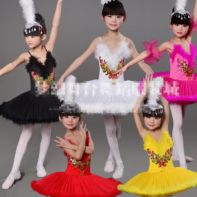 792a3dfd5324 Girls Professional White Swan Lake Ballet princess dance Costume ...