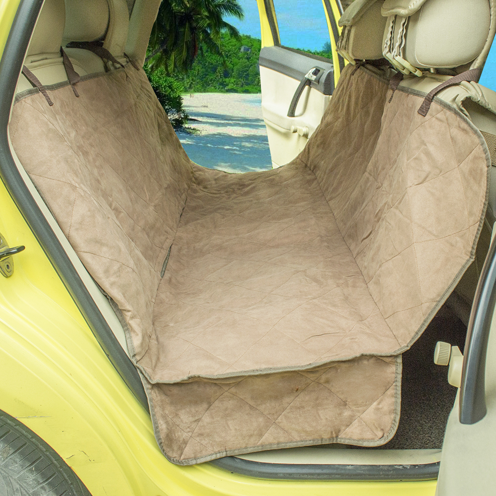Hund auto quilted suede hängematte sitzbezüge hund rücksitz auto ...