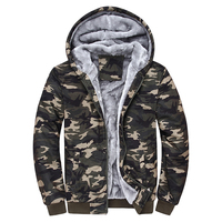 High Quality Mens Winter Camouflage Hoodies Male Thick Casual Army Military Camo Hooded Sweatshirts Hoodie Plus