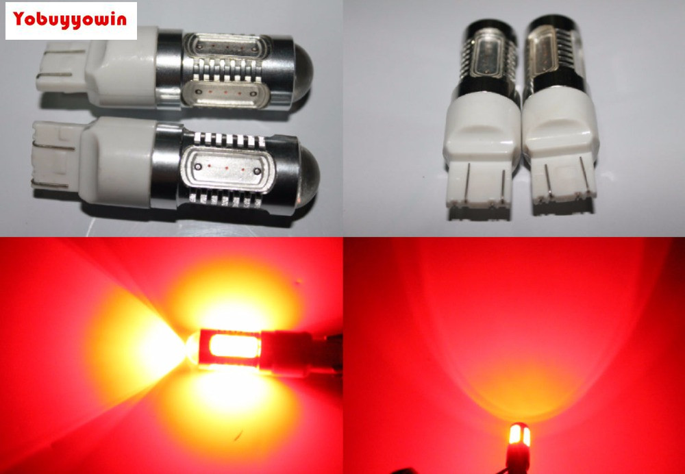 Free shipping 2pcs 7443 7.5W RED /Yellow Amber/White STOP/BRAKE TAIL LIGHT BULBS HIGH POWER CREE Chips Led Bulbs 7443R 7444NA