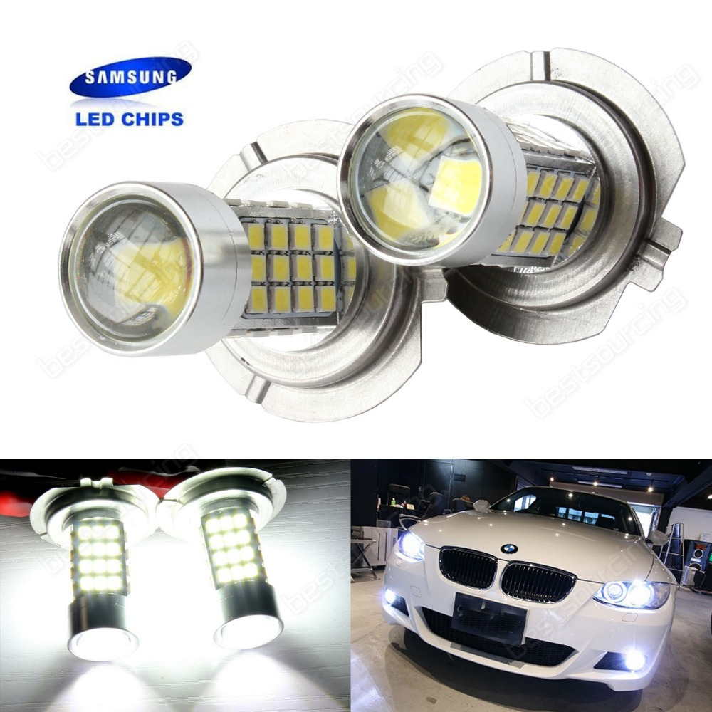2x H7 45W SAMSUNG LED Headlight Daytime Lamp 499 Fog Light Bulbs ...