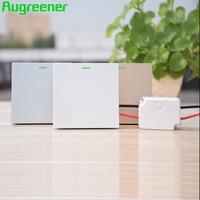 Augreener Wireless Wall Switch No Battery 70 M Long Range Button Waterproof AC 100V 240V Remote